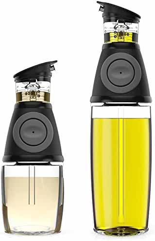 Blümwares Oil & Vinegar Dispenser Set with Drip-Free Spouts   2 Pack Includes 500ml and 250ml Sized Bottles
