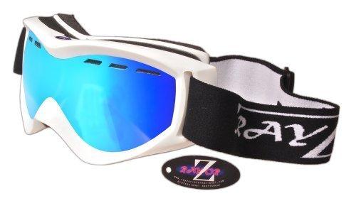 Rayzor Lunettes de ski/snow professionnelles UV400 avec monture argentée et verres anti-buée et anti-reflets 3FTmaqZT