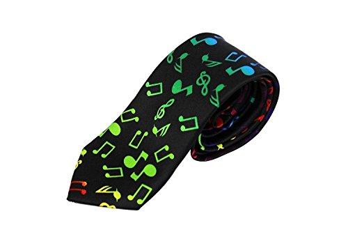 Leema Men's Music Note Polyester Necktie Souvenier Gift Unique
