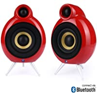 Podspeakers MicroPod Bluetooth Red Wireless Active Speakers (Pair)