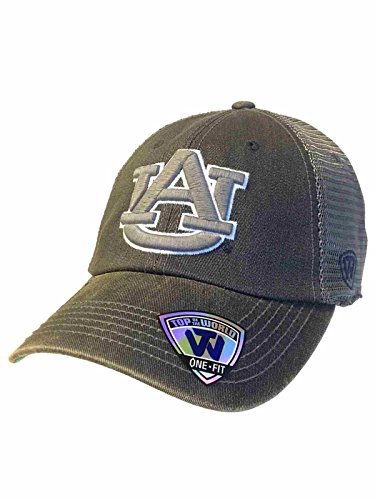 Auburn Tigers TOW Two Tone Gray Mortar Mesh Backed Flexfit Slouch Hat Cap