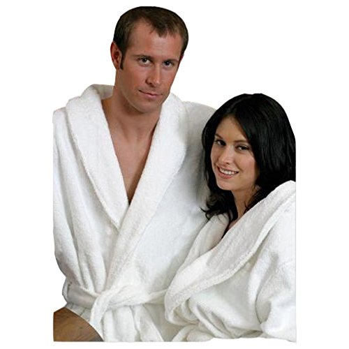 Two White Matching Terry Bathrobes. Great For Couples by Spa & Resort