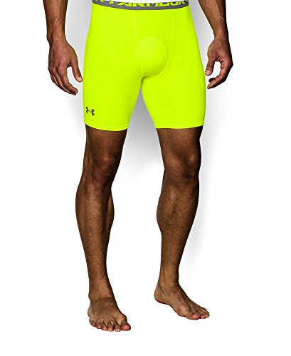 Under Armour Men's UA HeatGear® Armour Compression Shorts - Mid Small High-Vis Yellow