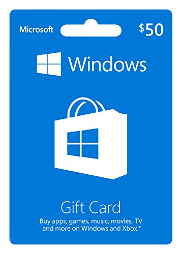 microsoft windows store gift card -  50 value
