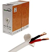 NavePoint 500ft In Wall Audio Speaker Cable Wire CL2 14/2 AWG Gauge 2 Conductor Bulk White