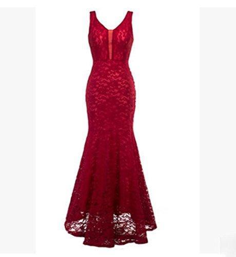 Fischschwanz Partei zurück Kleid Abendkleid Frau 1 leak KUKI vq5BTHw