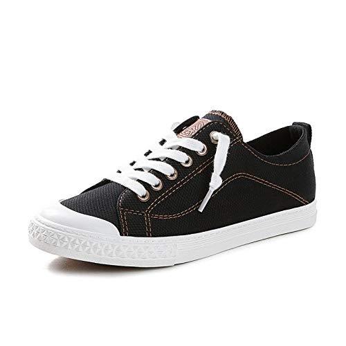 Hasag Zapatillas Zapatillas de Lona Mujer Zapatillas Deporte de black RORwq1