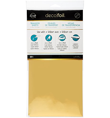 iCraft Therm O Web Deco Foil (Pack of 20), Gold -