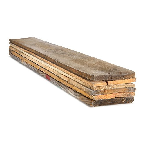 Dimensions Reclaimed Pallet Boards, 1 in. x 6 in. x 40 in. (6 Pack)