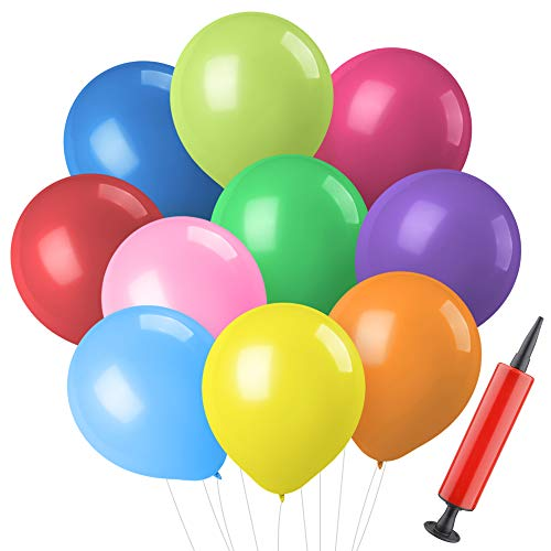 Mocoosy 150 Latex Balloons 10 Inch, Assorted Rainbow Colors Party Balloons Bulk for Birthday Wedding Baby Shower Holiday Party ()