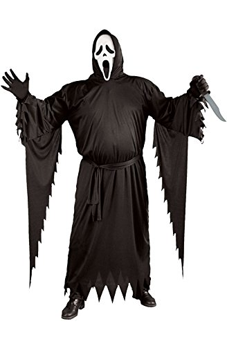 Scary Scream Costumes (FunWorld  Adult Plus Scream Costume, Black, One Size)