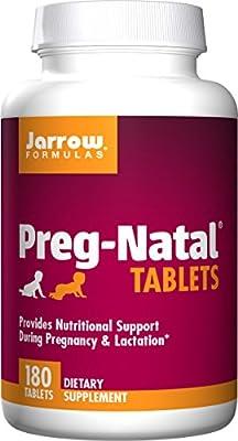 Jarrow Formulas Preg-Natal Ideal Nutritional Support during Pregnancy & Lactation Tablets, 180 Count