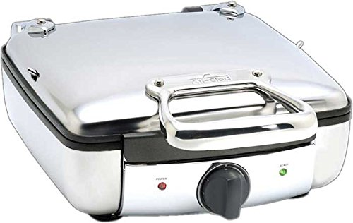 All-Clad 99010GT Stainless Steel Belgian Waffle Maker with 7 Browning Settings, 4-Square, Silver