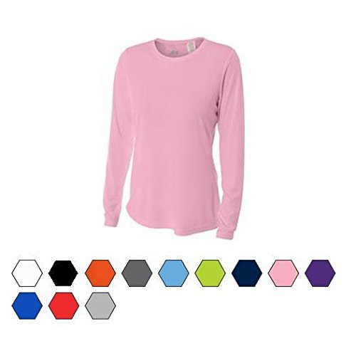 - Authentic Sports Shop Pink Women's Adult Large Long Sleeve Wicking Cool & Comfortable Shirt/Undershirt