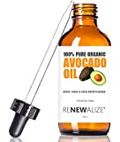 Organic AVOCADO OIL Skin Moisturizer - Cold Pressed and Unrefined in LARGE 4 OZ. DARK GLASS BOTTLE with Glass Eye Dropper | Highest Quality 100% Pure | Non GMO | Helps to Enhance Hair's Natural Silkiness and Shine | Softens and Moisturizes Severely Dry Itchy Skin | An Excellent Carrier Oil for Mixture with Essential Oils | Guaranteed Improvement