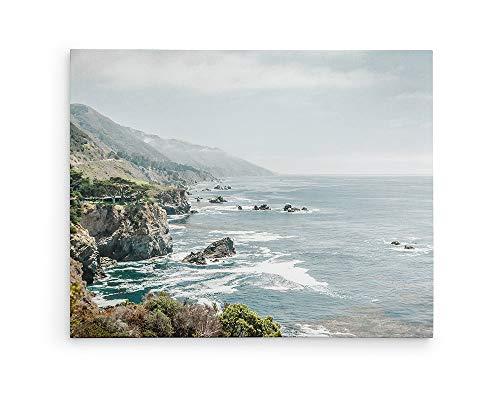 (Large Canvas or Unframed Prints, California Big Sur Landscape Coastal Wall Decor, Rocky Rocks')