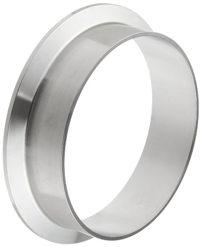 (Dixon L14AM7-G400 Stainless Steel 304 Sanitary Fitting, Long Weld Clamp Ferrule, 4