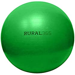 "Rural365 | Large Horse Ball Toy in Green, 40"" Inch Ball Anti-Burst Giant Horse Ball – Horse Soccer Ball, Pump Included"