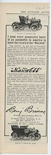 Touring Cat (1907 Maxwell Touring Cat Tarrytown NY Automobile Magazine Ad)
