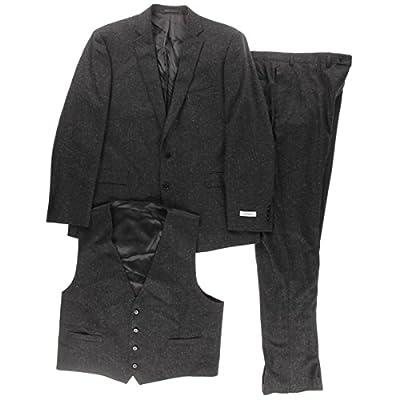 Calvin Klein Mens Silk Blend 3PC Two-Button Suit