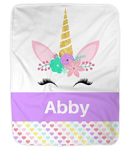 - Personalized Baby Blanket, Personalized Preschool Blanket, Unicorn Personalized Blanket by Nap Mat Carriers (Purple)
