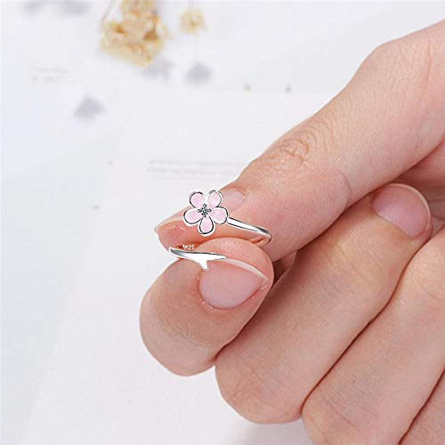 HCBYJ Lady ring S90 Opening Beautiful Silver Finger Ring Accessories Rose Fashion Womens Clothing