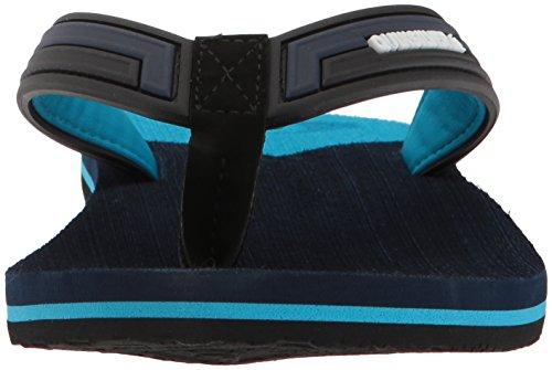 Sandal Deluxe New Flop Wave Black Quiksilver Blue Blue Molokai Flip Mens wpqwIE0