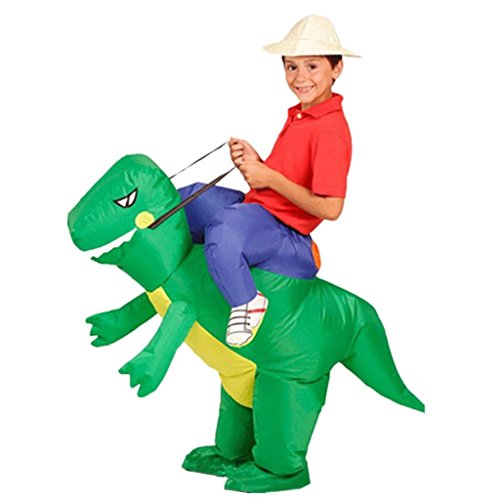 DreamHigh DH Inflatable Dinosaur Riding Funny Costume Suit For (Funny Girl Costume)
