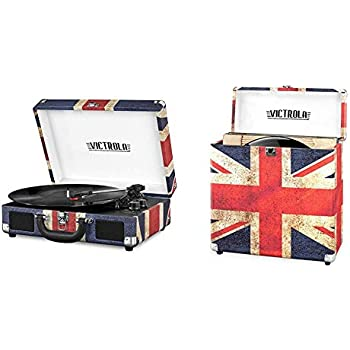 Amazon Com Victrola Bluetooth Suitcase Record Player With