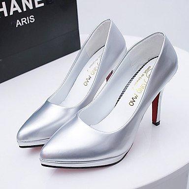 Talones de las mujeres Zapatos Primavera Verano Otoño Invierno club Comfort PU boda Charol oficina y carrera de vestir informal de estilete del talón Otros Black