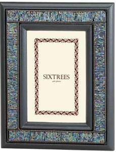 Stylish beaded OPAL frame by Sixtrees - 4x6