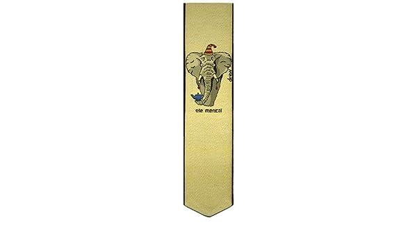 Simon Drew Jacquard Woven Silk Bookmark ele Mental