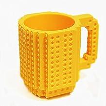 Studyset Build-On Brick Mug Coffee Cup DIY Type Plastic Creative Building Blocks Tea Beverage Drinking Funny Gift