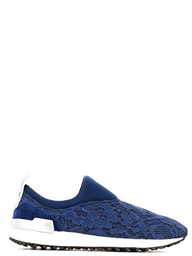Liu jo Slip On Mujer Sneaker Running Pizzo Mesh Suede Cheri Azul - azul