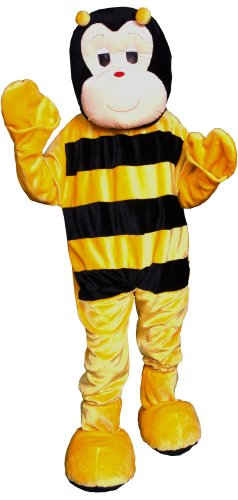 Bee Bumble Mascot Costumes (Bumble Bee Economy Mascot Adult Costume)