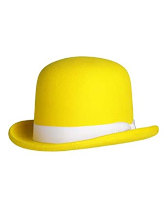 Tall Derby Bowler Hat in Yellow at Amazon Men s Clothing store  ce6a38701e0