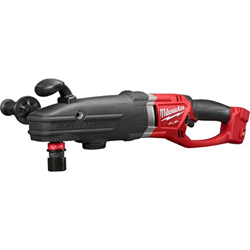 Milwaukee 2711-20 M18 Fuel Super Hawg Right Angle Drill with Quik-Lokbare by Milwaukee