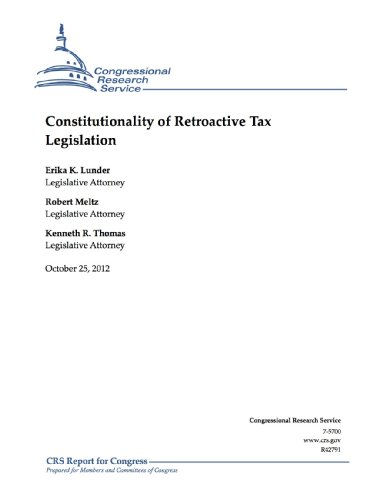 Constitutionality of Retroactive Tax - Erika's Service Tax