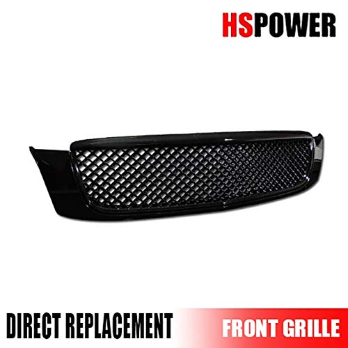 HS Power Black Luxury MESH Front Hood Bumper Grill Grille ABS 2000-2005 Cadillac DEVILLE
