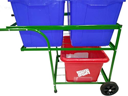 (Heavy Duty Recycle Bin Garbage Cart Trolley)