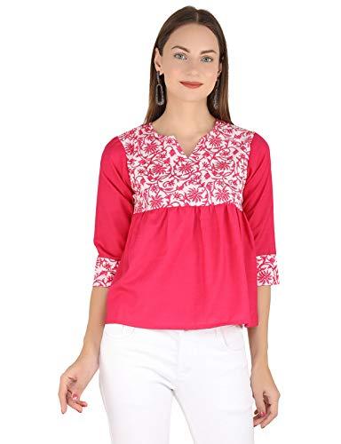 UNFAKENOWCasual 3/4 Sleeve Floral Print Women Top