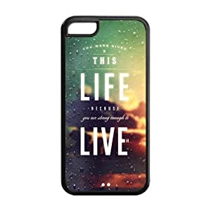 Hard Case Cover for iPhone 5c Strong Protect Case Life Quotes Case Perfect as Christmas gift(5)