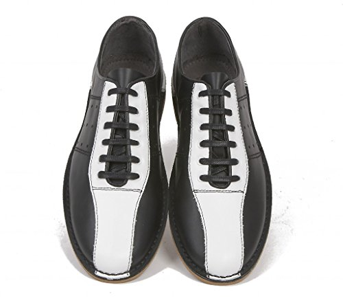 Delicious Junction Watts Leather Bowling Shoe by Black &Amp; White