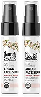 product image for Nourish Organic Pure Hydrating Organic Argan Facial Serum with Rosehip and Apricot Kernel Oils, 0.7 fl. oz. by Nourish Organic