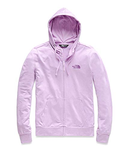 The North Face Women's Fave Lite LFC Full Zip, Orchid Bouquet Heather/Phlox Purple, Size XS
