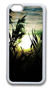 MOKSHOP Adorable Fascinating sunset scenery Soft Case Protective Shell Cell Phone Cover For Apple Iphone 6 (4.7 Inch) - TPU White