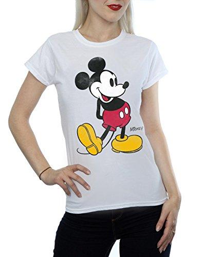 Mickey Mouse Donna Kick Disney Maglietta Classic Bianca w4A74Fq8