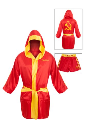 Ivan Drago Costume Satin Robe & Short -