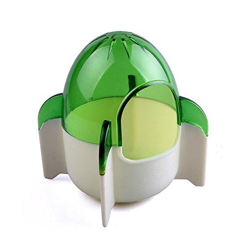 Wildforlife Cute Rocket Style Hamster Toiltet Bath House (Green)