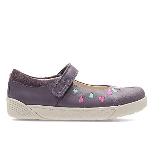 Clarks  Lilfolkpeg Pre, Chaussures de ville à lacets pour fille gris gris - gris - gris, 28,5 G EU